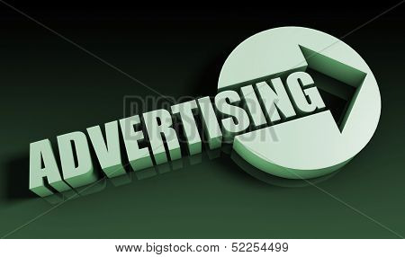 Advertising Concept With an Arrow Going Upwards 3D poster