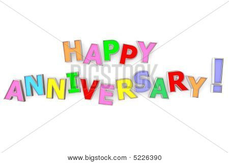 Colourful Happy Anniversary