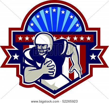 American Football Qb Quarterback Crest