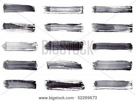 Grunge Stripes. Set 15 In 1
