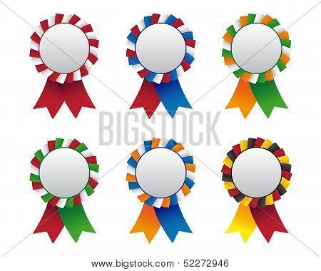 Collection Of Flag Cockade