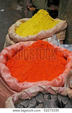 Colorful African Spices in Uganda Market