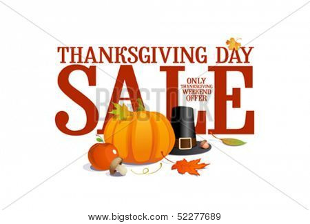 Thanksgiving day sale design.