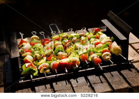Barbecue légumes Shish-kebab