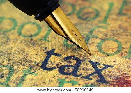 Fountain Pen On Tax