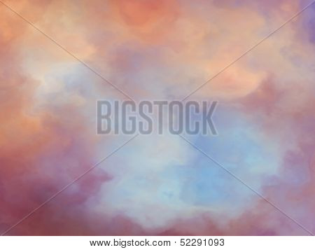 Dreamy Fantasy Clouds Background Painting