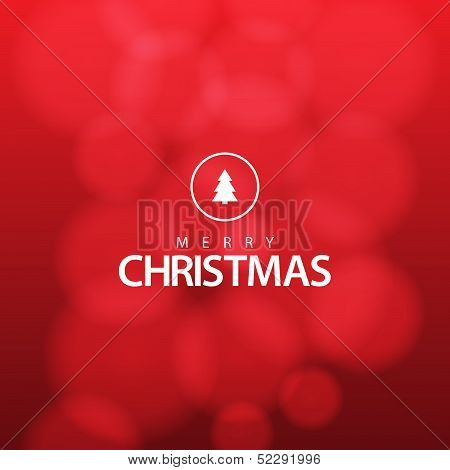 Red Flat Christmas Background / EPS10 Vector illustration / poster