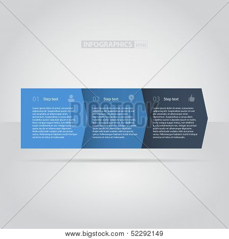 Blue Flat Step by Step / EPS10 Vector Illustration / poster
