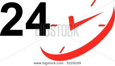 24 Hour Clock Icon