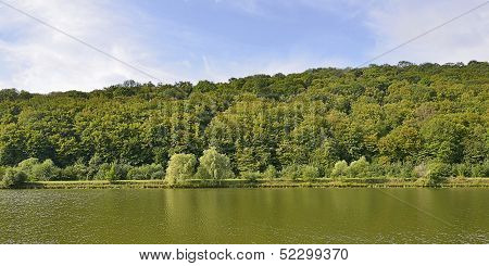 Lake, Forest And Sky