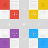 Flat Colorful Step by Step Background / EPS10 Vector Illustration / poster
