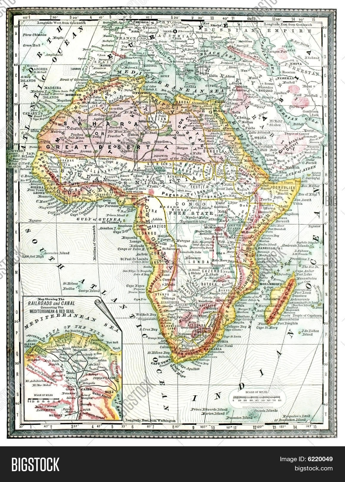 Old Map Africa Image & Photo (Free Trial) | Bigstock