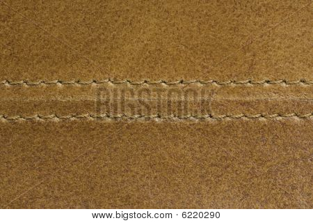 Brown Eco Leather With Seam