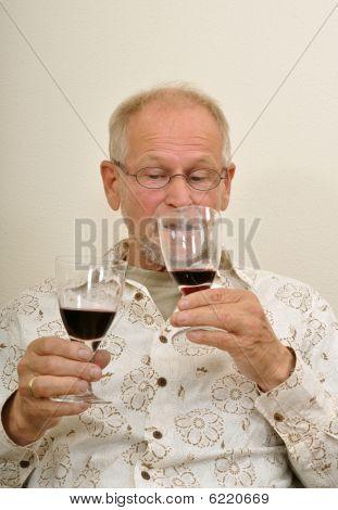 Senior Man Having A Choice