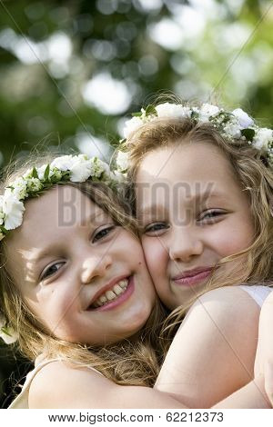 Two girls are happy - First Communion
