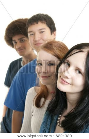 Ethnic Teen Friends Smiling