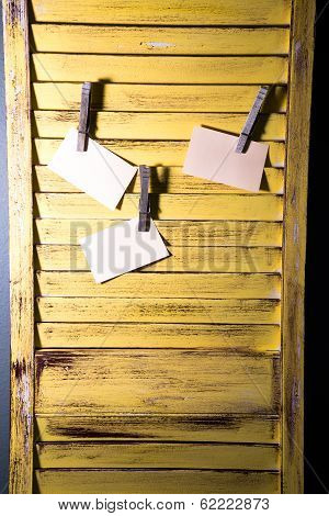 Diy Message Board Made From Shutters.