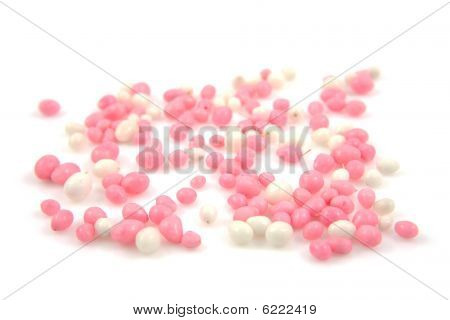 Pink And White Mice Sprinkles