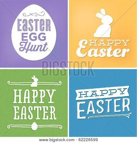 Happy Easter Vector Set