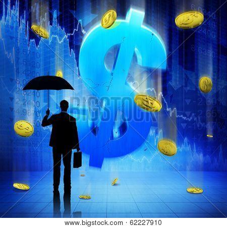 Businessman on Financial Crisis