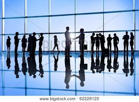 International Business Group with Handshake
