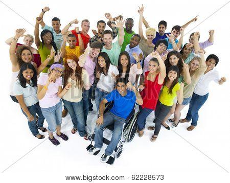 Large Group of People Celebrating