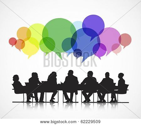 Vector of Social Business Meeting