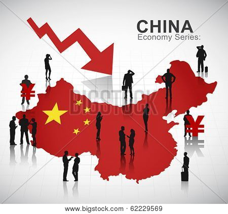 Vector of China Recession