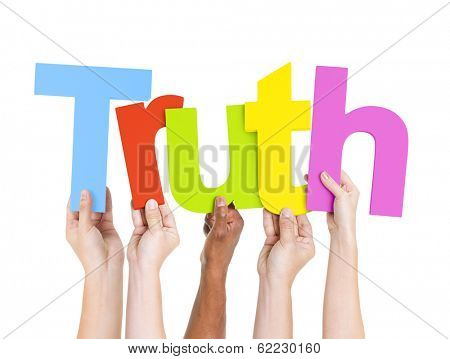 Diverse Hands Holding Truth