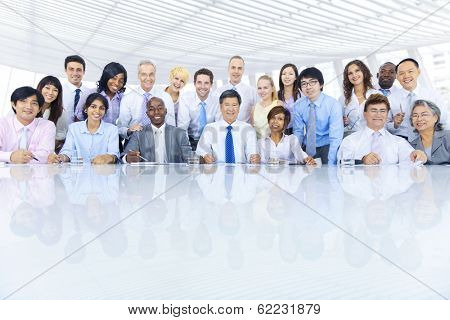Group of Diverse Business People Meeting at Table