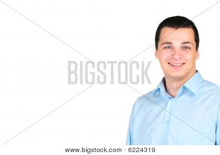 Portrait of a business man isolated on white