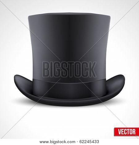 black gentleman hat cylinder vector background