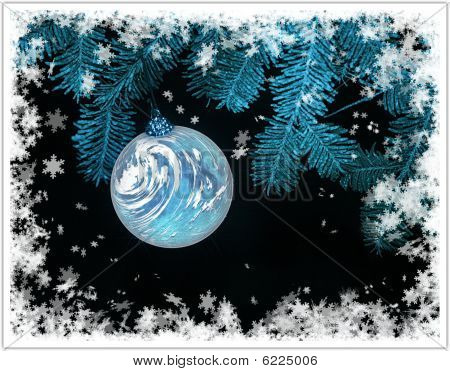 Christmas Card With Planet Earth