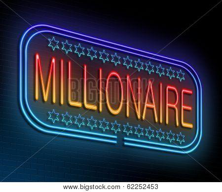 Millionaire Concept.