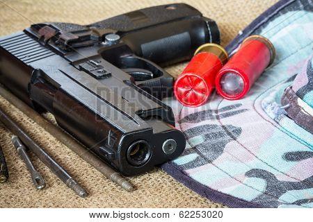 Black Gun And Hat Camouflage