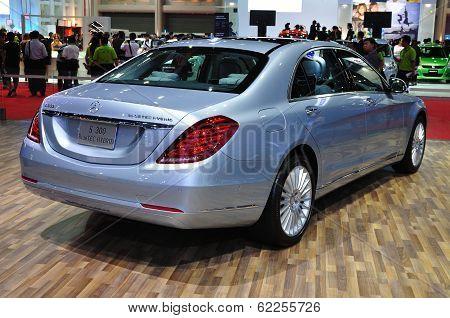 Nonthaburi - March 25: New Mercedes Benz S300 Bluetec Hybrid On Display At The 35Th Bangkok Internat