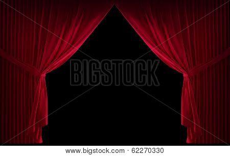 Velvet red curtain