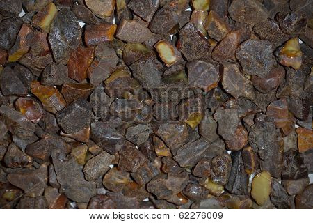 Ukrainian natural mineral amber, raw amber - sunstone poster