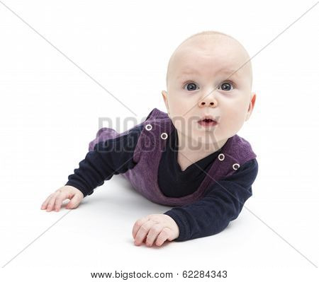 Astonished Baby On Floor