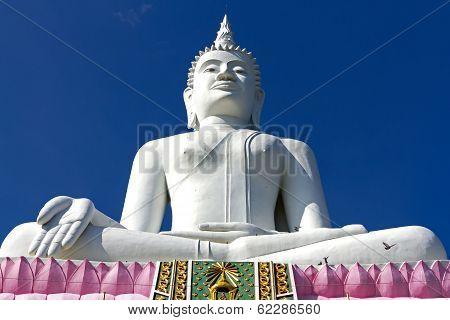 Statue White Big Buddha