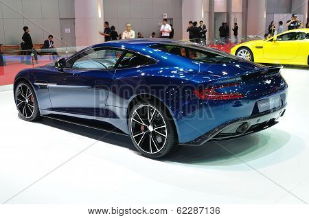 Nonthaburi - March 25: Aston Martin Vanquish Coupe On Display At The 35Th Bangkok Thailand Internati