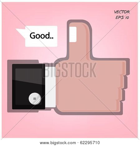 Like us ,hand sign ,good sign