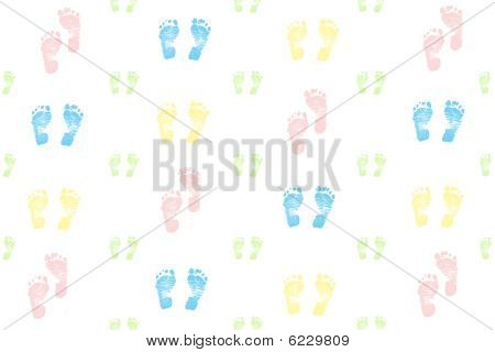 Baby feet Background