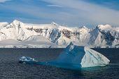 Paradise Bay Antarctica ocean and mountain view poster