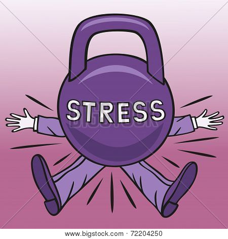 Severe stress can cause disorders in the human psyche. poster