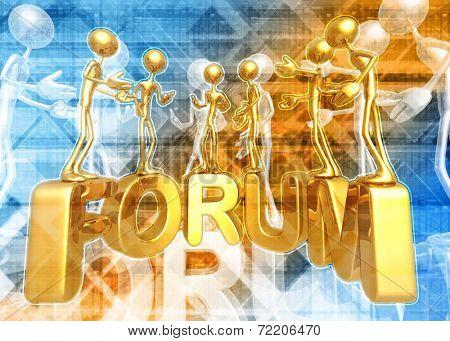 3D Internet Forum Concept