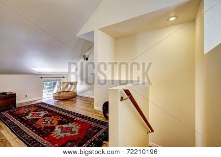 Bedroom With Vaulted Ceiling And Sitting Area