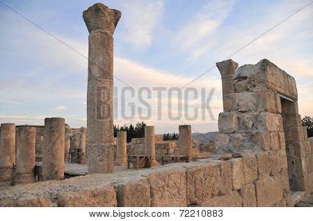Ruins in Mount Nebo In Jordan