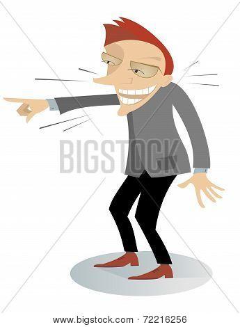 Laughing man illustration