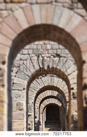 Galery In Ancient City Of Pergamon Turkey